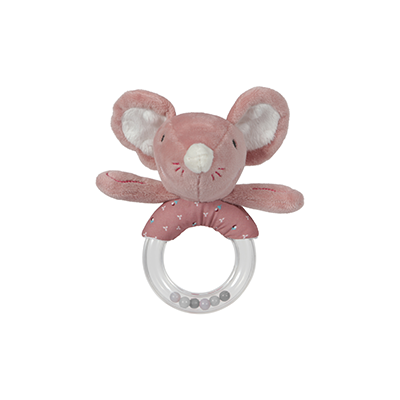 Ring rattle pink