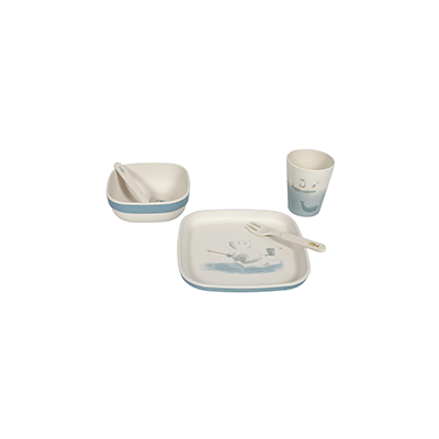 Bamboo kids tableware set Polar